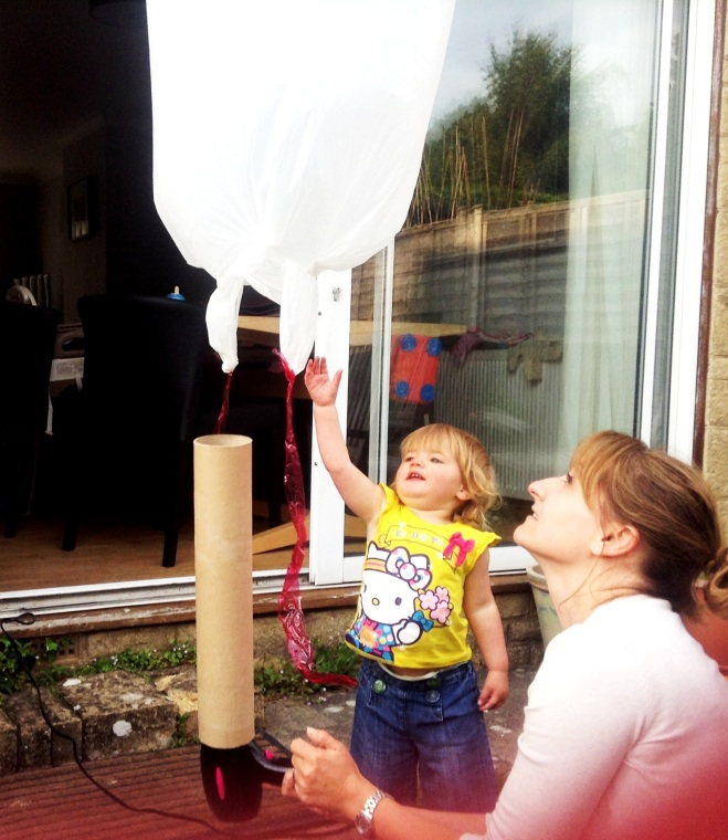 Stem School Drums: Home Made Hot Air Balloon- Toddler STEM Activity