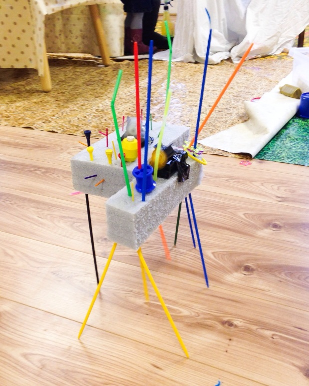 Moving Sculpture Bots Toddler STEM Activity